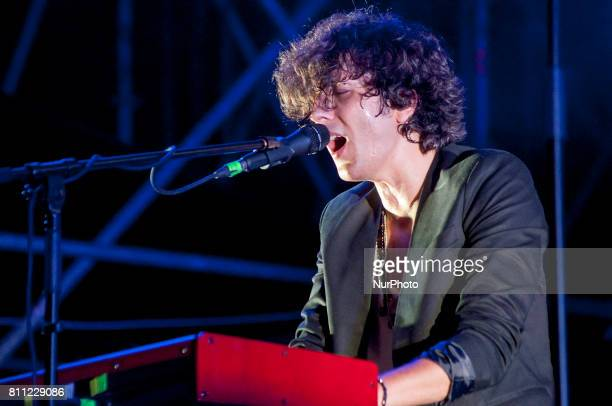 Ermal Meta perform at Mirano Summer Festival 2017 in Mirano Italy on July 8 2017
