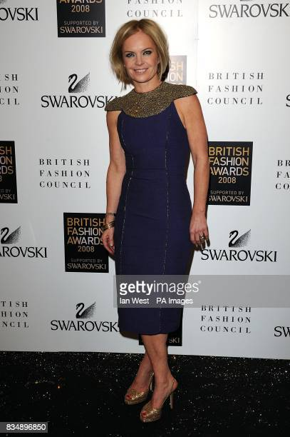 ErMariella Frostrup arrives for the 2008 British Fashion Awards at the Royal Horticultural Hall 80 Vincent Square London