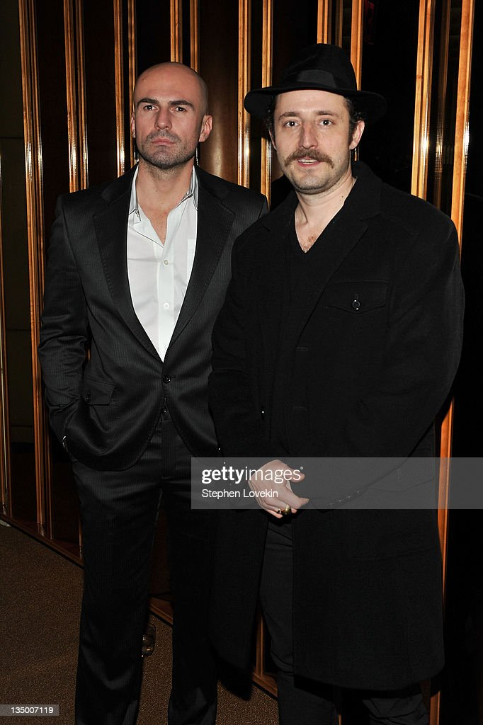 Ermin Sijamija and Nikola Djuricko attend the after party for the premiere of 'In the Land of Blood and Honey' at the The Standard Hotel Rooftop on December 5, 2011 in New York City.