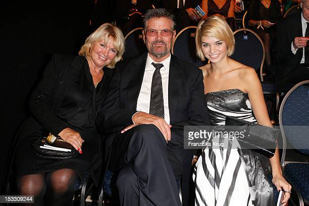Erna and Guenther Klum and Luisa Martema attend the German TV Award 2012 at Coloneum on October 2 2012 in Cologne Germany
