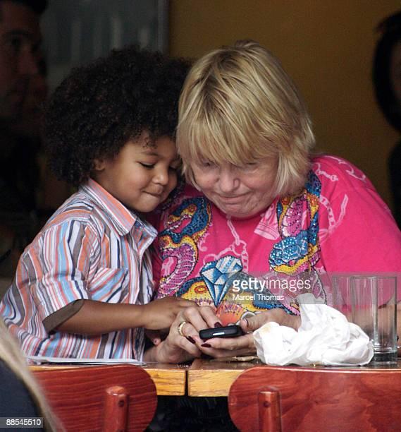 Erna Klum and grandson Johan Samuel visit Bar Pitti restaurant inthe West Village on June 17 2009 in New York City