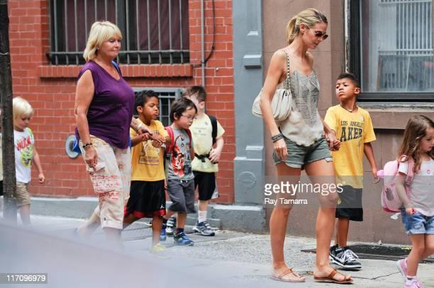 Erna Klum Johan Samuel TV personality Heidi Klum and Henry Samuel walk in Soho on June 21 2011 in New York City