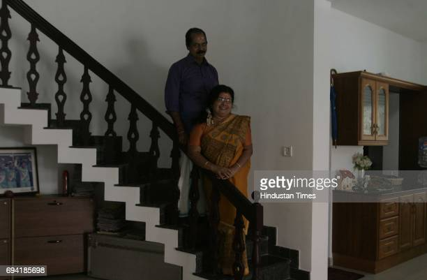 Ernakulam 8th February 2011 Sreesanth's mother Savithri Devi and father Santhakumaran Nair at thier residence in Ernakulam