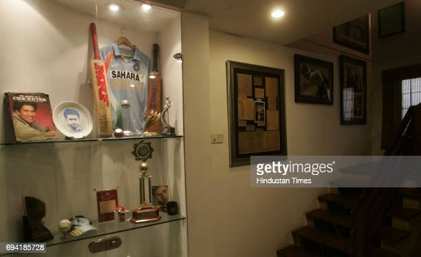 Ernakulam 8th February 2011 The memoribilia in Sreesanth's Bat and Bowl Inn including the cricket bat given to him by Sachin Tendulkar