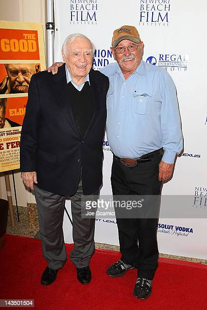 Ernest Borgnine and Barry Corbin arrive at the 2012 Newport Beach Film Festival 'The Man Who Shook The Hand Of Vicente Fernandez' Premiere at Islands...