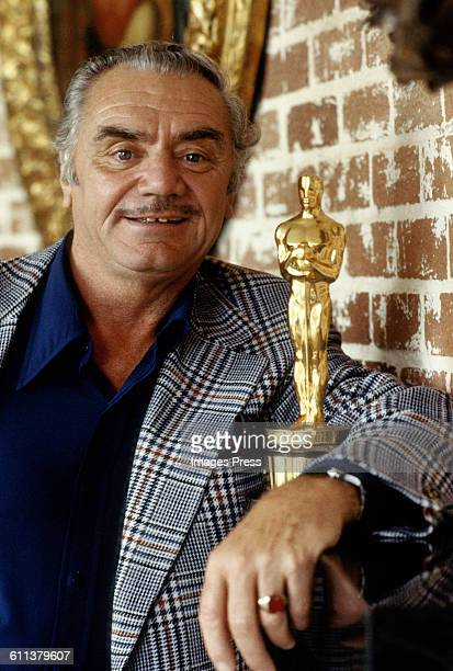 Ernest Borgnine and wife Tova in their home circa 1981in Beverly Hills California