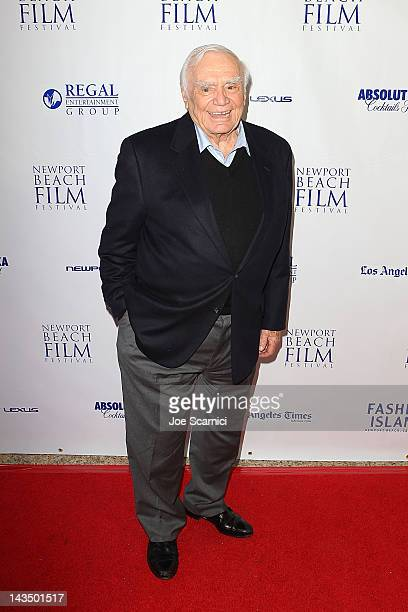 Ernest Borgnine arrives at the 2012 Newport Beach Film Festival 'The Man Who Shook The Hand Of Vicente Fernandez' Premiere at Islands Cinema on April...