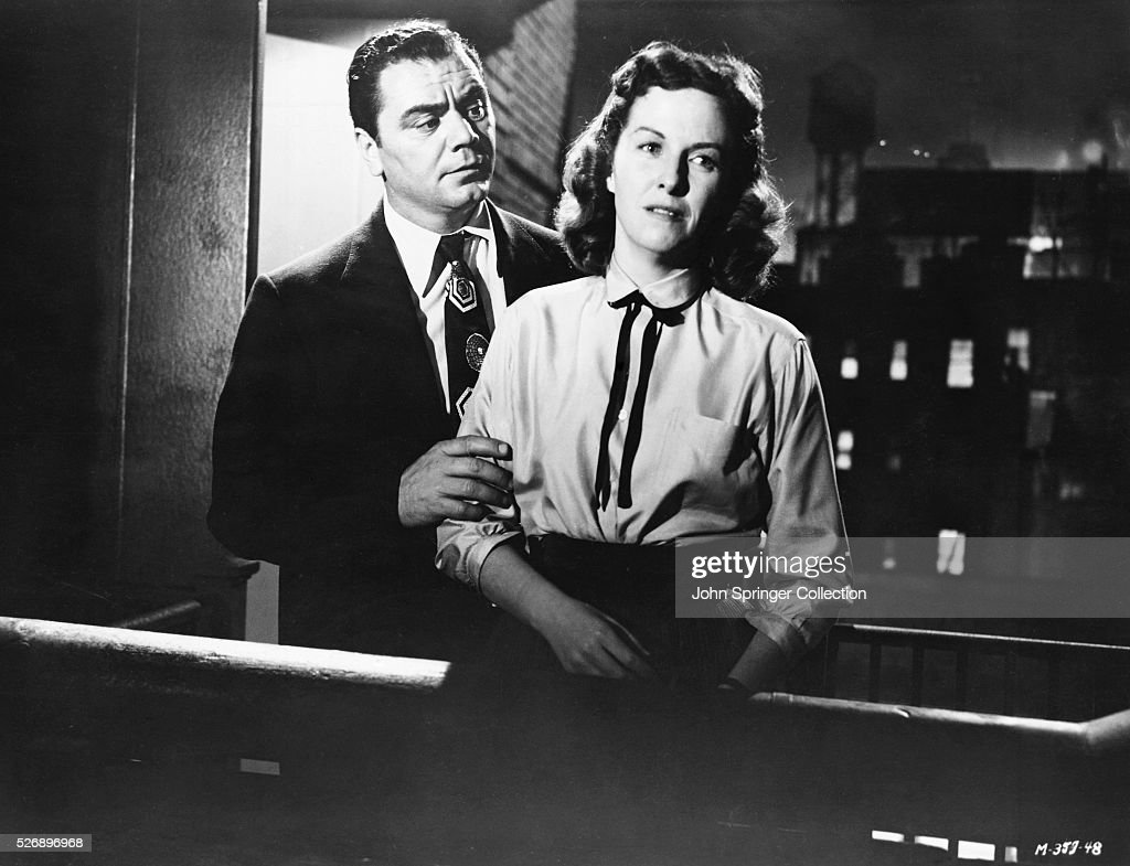 Ernest Borgnine as Marty Piletti and Betsy Blair as Clara Snyder in the 1955 best picture winning film Marty.