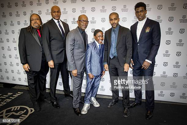 Ernest Dickerson Colin Salmon Kennie James Dani Dare Alexander Karim and Mustafa Shakir attend the premiere of the movie Double Play at the...
