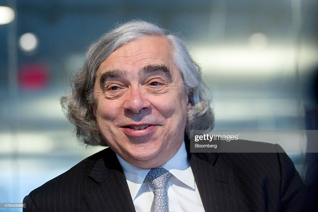 <a gi-track='captionPersonalityLinkClicked' href=/galleries/search?phrase=Ernest+Moniz&family=editorial&specificpeople=7551550 ng-click='$event.stopPropagation()'>Ernest Moniz</a>, U.S. energy secretary, smiles during an interview in Washington, D.C., U.S., on Monday, April 20, 2015. Inspectors need unfettered access to Iran's nuclear sites as part of a deal to lift economic sanctions, Moniz said during the interview. Photographer: Andrew Harrer/Bloomberg via Getty Images