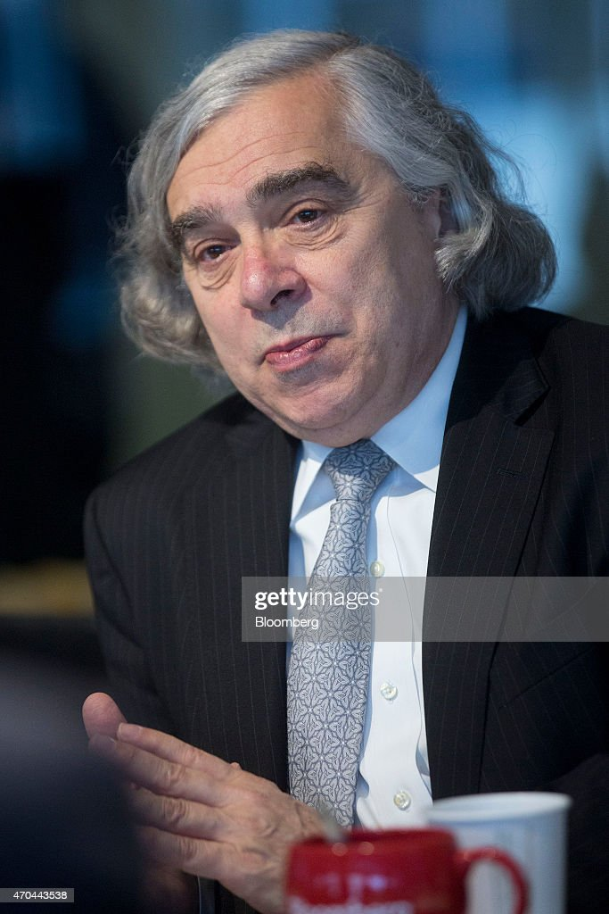 <a gi-track='captionPersonalityLinkClicked' href=/galleries/search?phrase=Ernest+Moniz&family=editorial&specificpeople=7551550 ng-click='$event.stopPropagation()'>Ernest Moniz</a>, U.S. energy secretary, speaks during an interview in Washington, D.C., U.S., on Monday, April 20, 2015. Inspectors need unfettered access to Iran's nuclear sites as part of a deal to lift economic sanctions, Moniz said during the interview. Photographer: Andrew Harrer/Bloomberg via Getty Images