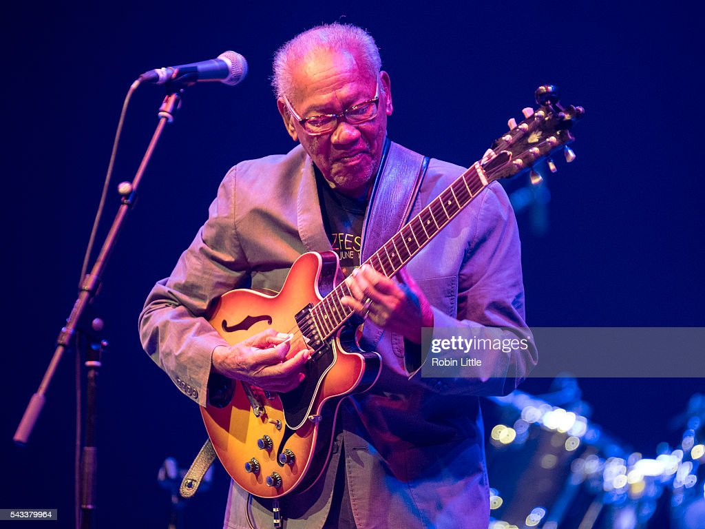 Ernest Ranglin performs at Barbican Centre on June 27, 2016 in London, England.