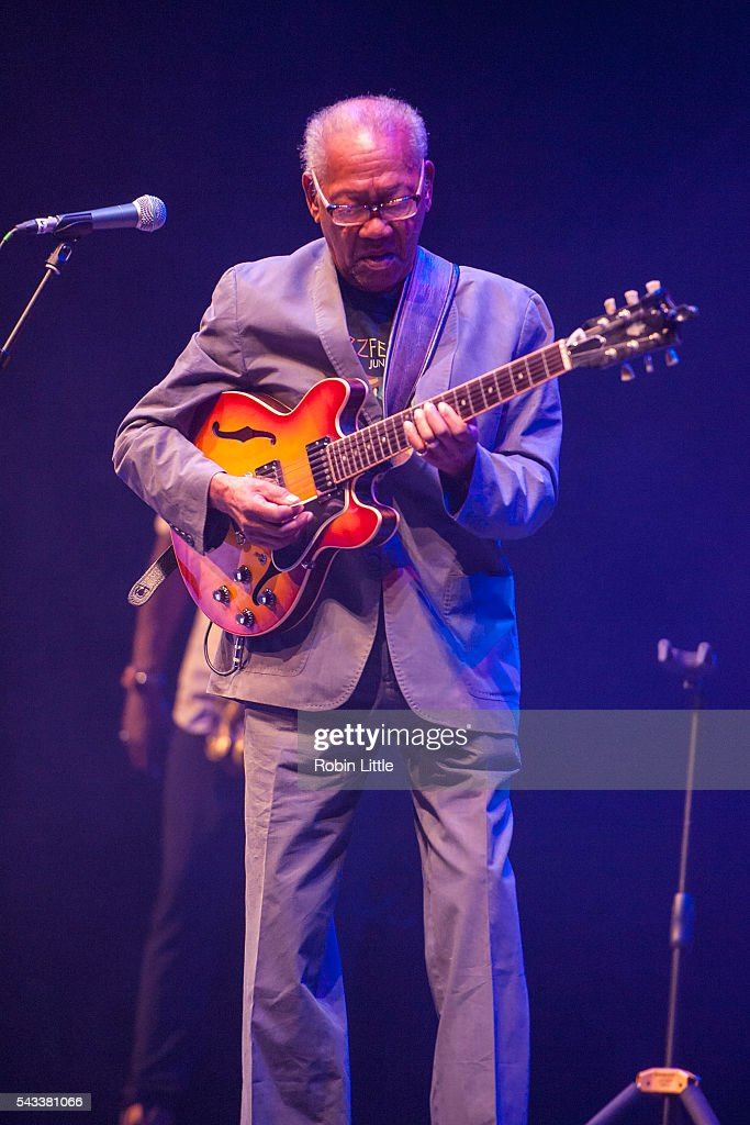 <a gi-track='captionPersonalityLinkClicked' href=/galleries/search?phrase=Ernest+Ranglin&family=editorial&specificpeople=4647588 ng-click='$event.stopPropagation()'>Ernest Ranglin</a> performs at Barbican Centre on June 27, 2016 in London, England.