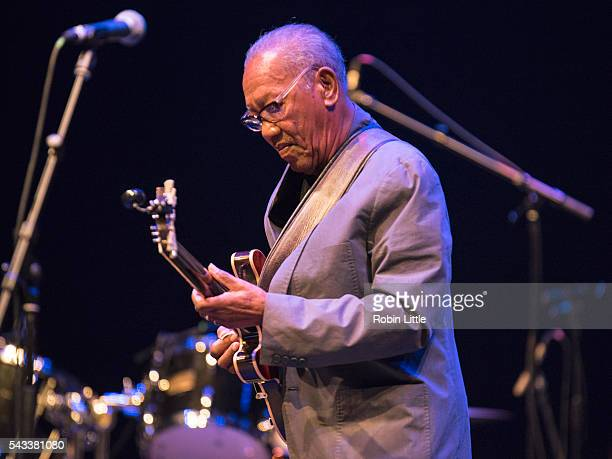 Ernest Ranglin performs at Barbican Centre on June 27 2016 in London England