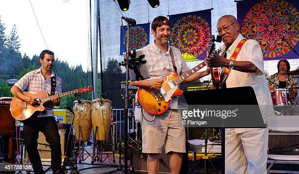 Ernest Ranglin performs during the 2014 High Sierra Music Festival at Plumas County Fairgrounds on July 5 2014 in Quincy California