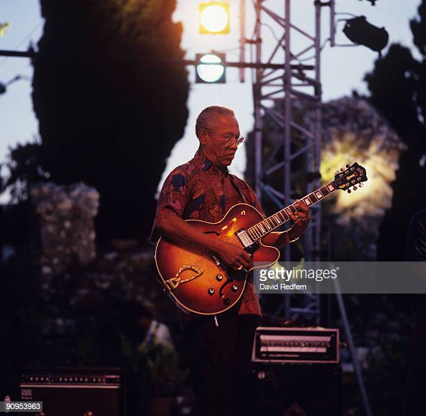 Ernest Ranglin performs on stage at the Nice Jazz Festival held in Nice France in July 1996