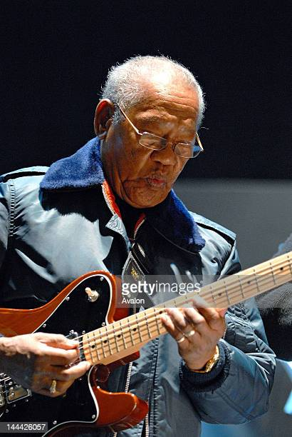 Ernest Ranglin soundchecking with Jazz Jamaica for their performance at the Royal Festival Hall London on 23rd November during the London Jazz...