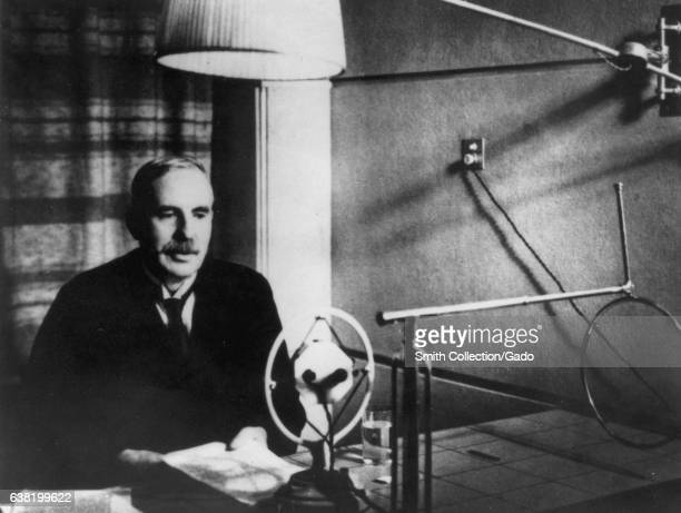 Ernest Rutherford recipient of the Nobel Prize in Chemistry lecturing in New Zealand 1926