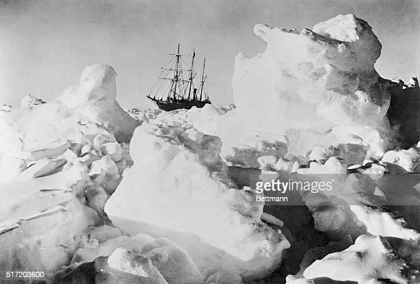 Ernest Shackleton's Ship Endurance Trapped in Ice