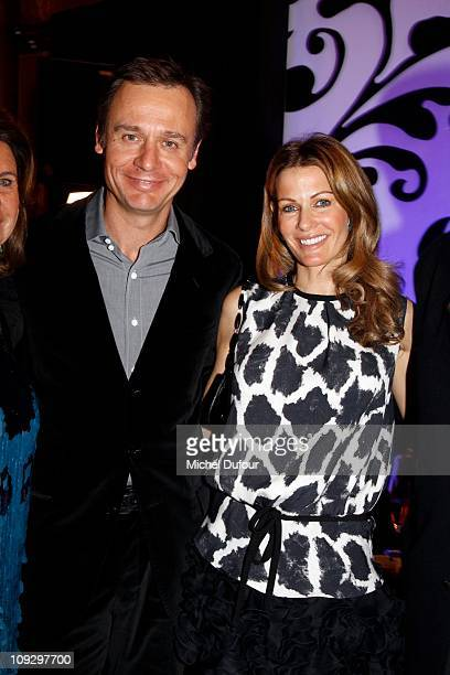 Ernesto Bertarelli and Kirsty Bertarelli attend the De Grisogono Jewellery new collection party on February 17 2011 in Gstaad Switzerland