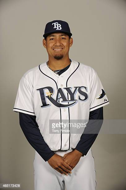 Ernesto Frieri of the Tampa Bay Rays poses during Photo Day on Friday February 27 2015 at Charlotte Sports Park in Port Charlotte Florida
