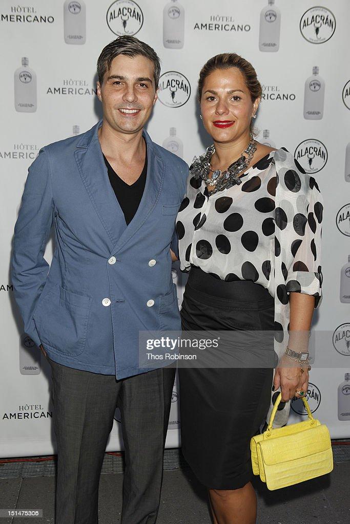 Ernesto Ibarra Henkel and Liliana Sada attend Autentico Tequila Alacran Debuts Their Mezcal Alacran at Hotel Americano In NYC on September 7, 2012 in New York City.