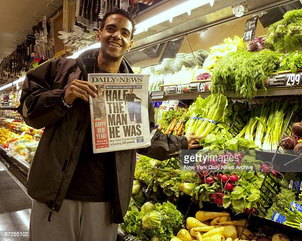 Ernesto Suncar of Manhattan lost 430 pounds after a gastric bypass operation He is shopping at a supermarket near his home