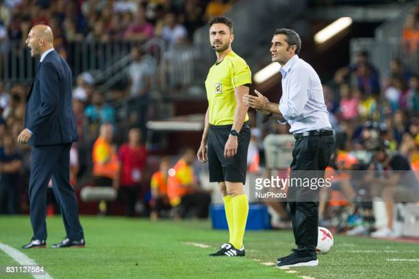 Ernesto Valverde during the match between FC Barcelona Real Madrid for the first leg of the Spanish Supercup held at Camp Nou Stadium on 13th August...