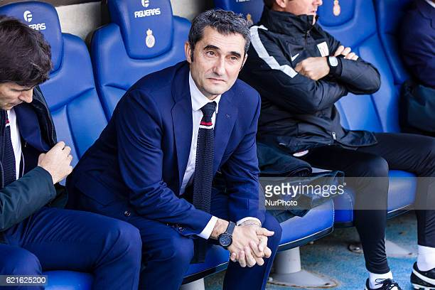 Ernesto Valverde during the match between RCD Espanyol vs Athletic Club for the round 11 of the Liga Santander played at RCD Espanyol Stadium on 6th...