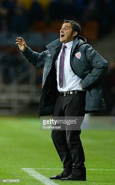 Ernesto ValverdeHead Coach of Athletic Club looks on during the UEFA Champions League Group H match between Bate Borisov and Athletic Bilbao at the...