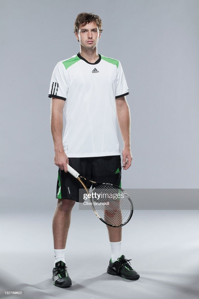 <a gi-track='captionPersonalityLinkClicked' href=/galleries/search?phrase=Ernests+Gulbis&family=editorial&specificpeople=4095282 ng-click='$event.stopPropagation()'>Ernests Gulbis</a> of Latvia poses during the ATP Mens Tennis portrait session at the Indian Wells Tennis Club on March 8, 2011 in Palm Springs, California.
