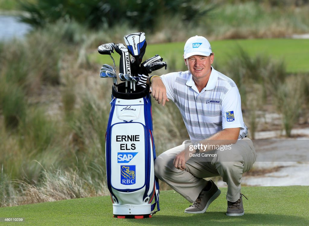 <a gi-track='captionPersonalityLinkClicked' href=/galleries/search?phrase=Ernie+Els&family=editorial&specificpeople=162688 ng-click='$event.stopPropagation()'>Ernie Els</a> of South Africa has announced a new equipment contract with Adams Golf to play Adams Golf Hybrids, and irons and to play the TaylorMade SLDR Driver and LETHAL golf ball. He has also signed a new agreement with ECCO to wear their footwear. His existing contracts with SAP, Boeing, RBC, Breitling, I-Onics, and Maui Jim will continue. <a gi-track='captionPersonalityLinkClicked' href=/galleries/search?phrase=Ernie+Els&family=editorial&specificpeople=162688 ng-click='$event.stopPropagation()'>Ernie Els</a> is pictured here during a photo shoot at the Bears Club on November 19, 2013 in Jupiter, Florida.