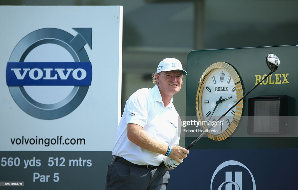 Ernie Els of South Africa in action during the Pro-Am for the Volvo Champions at Durban Country Club on January 9, 2013 in Durban, South Africa.