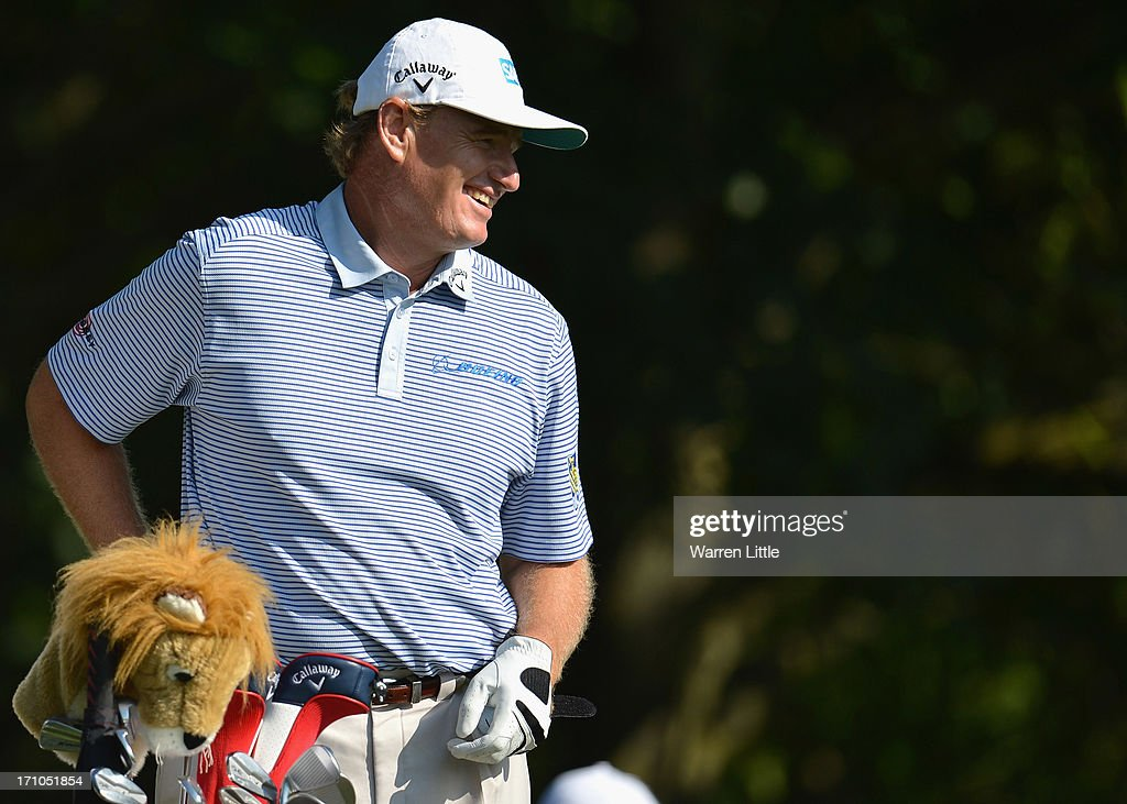 <a gi-track='captionPersonalityLinkClicked' href=/galleries/search?phrase=Ernie+Els&family=editorial&specificpeople=162688 ng-click='$event.stopPropagation()'>Ernie Els</a> of South Africa looks on during the second round of the BMW International Open at Golfclub Munchen Eichenried on June 21, 2013 in Munich, Germany.