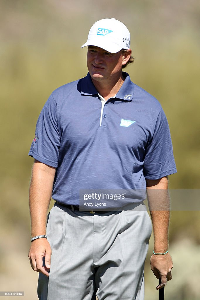 Ernie Els of South Africa looks on during the second round of the Accenture Match Play Championship at the Ritz-Carlton Golf Club on February 24, 2011 in Marana, Arizona.