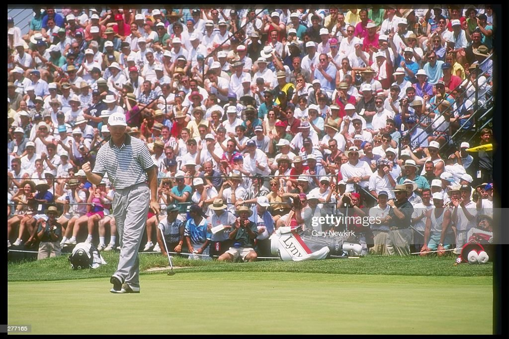 Ernie Els walks down the green during the U S Open at the Oakmont Golf Club in Pennsylvania Mandatory Credit Gary Newkirk /Allsport