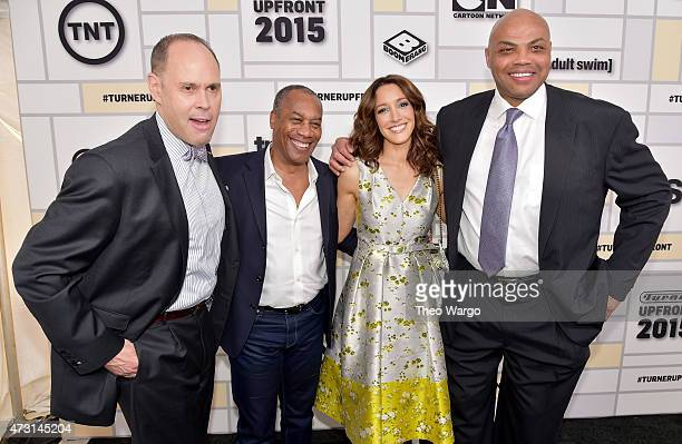 Ernie Johnson Joe Morton Jennifer Beals Charles Barkley attend the Turner Upfront 2015 at Madison Square Garden on May 13 2015 in New York City JPG