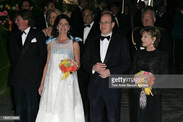 HSH Ernst August of Hanover and HSH Caroline of Hanover with HSH Albert of Monaco