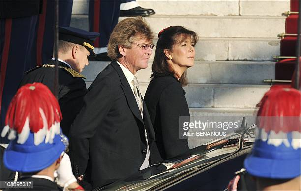 Ernst August of Hanover and Princess Caroline of Hanover in Monte Carlo Monaco on November 19 2008