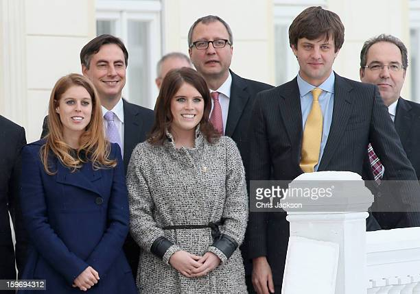 Ernst August of Hanover Princess Beatrice and Princess Eugenie attend the Opening Ceremony of Palace Herrenhausen on January 18 2013 in Hanover...