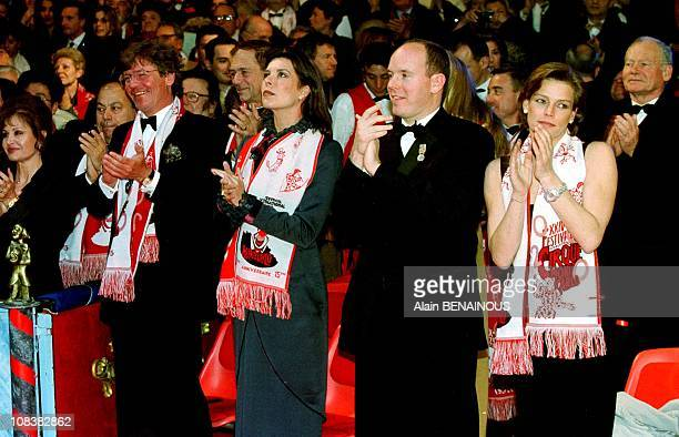 Ernst August of Hanover princess Caroline prince Albert and princess Stephanie in Monaco on January 25 2000