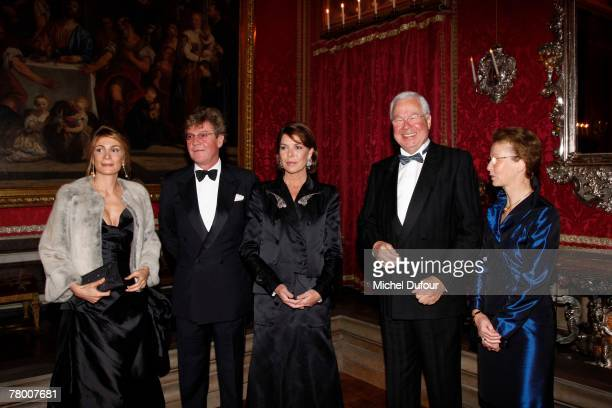 Ernst August Prince of Hanover and his wife Caroline pose with Maryam Sachs and Dietrich Hoppenstedt at the 'When Versailles Was Furnished in Silver'...