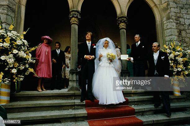 Ernst August Prince of Hanover Germany at his wedding with Chantal Hochuli 1981
