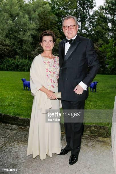 Ernst Rosi and his wife Sylvia Pessl during the International Salzburg Association Gala on July 26 2017 in Salzburg Austria