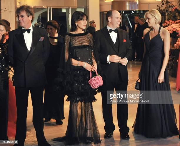ErnstAugust of Hanover Princess Caroline of Hanover Pedro Almodovar HSH Prince Albert II of Monaco and Charlene Wittstock attend the 2008 Monte Carlo...