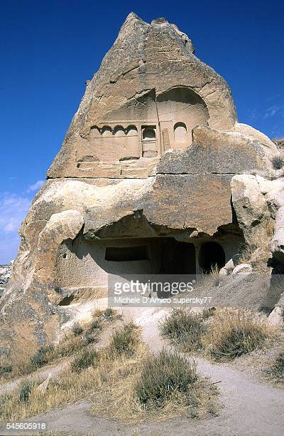 Eroded cave dwelling in a Fairy Chimney