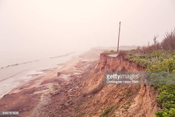 Eroded coastline