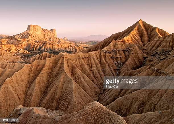 Eroded desert