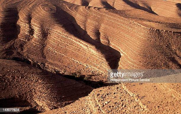Eroded Sandstone and Shale Atlas Mountains Morocco
