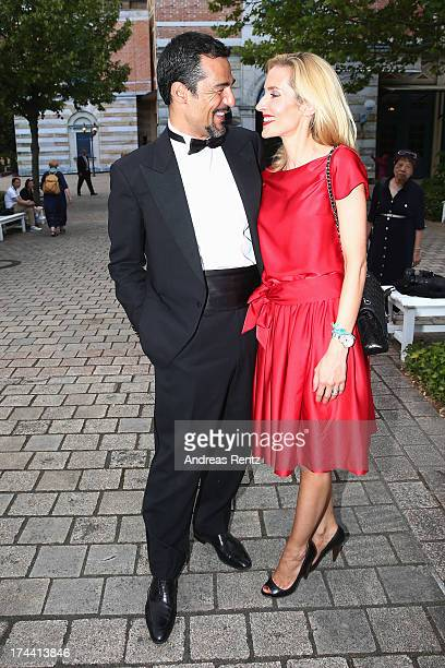 Erol Sander and Caroline Sander attend the Bayreuth Festival opening on July 25 2013 in Bayreuth Germany